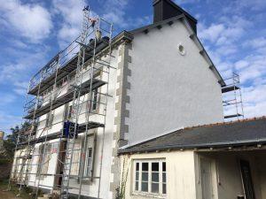 Rénovation de façade à Pleyben